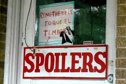 Spoilers Sign