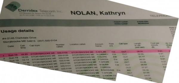 Kathryn Nolan's phone records-ouat s01e14