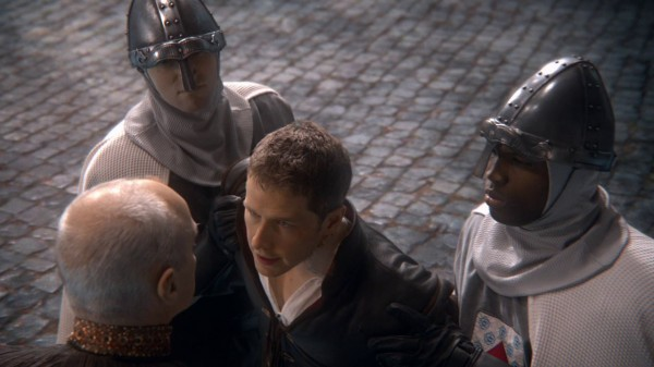 King George's solders with dragon helmets (An Apple Red as Blood-s01e21)