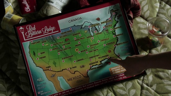 USA map from Red Lantern Lodge (Tallahassee-2x06)