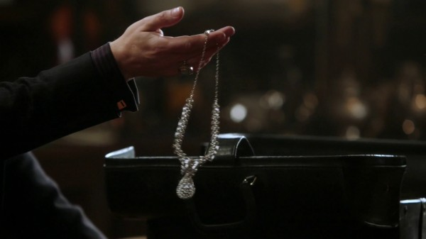 """Belle's necklace from Mr. Gold in """"Second Star to the Right"""""""