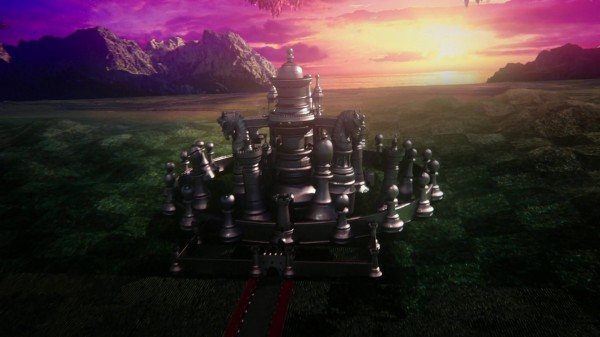 Red Queens chess castle and chessboard land (1x01 Down the Rabbit Hole)