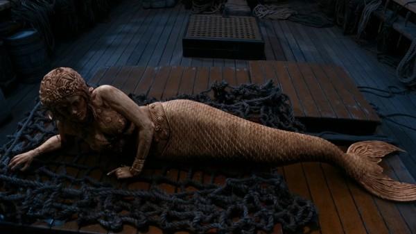 Wooden mermaid in Neverland