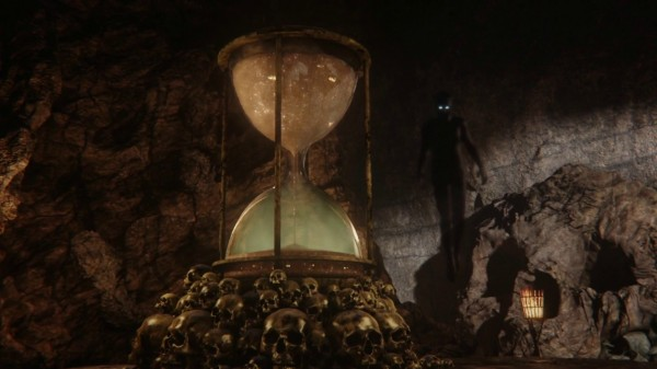 Hourglass in Skull Rock (3x08 Think Lovely Thoughts)