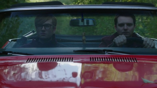 John and Michael driving to Storybrooke (3x07 Dark Hollow)
