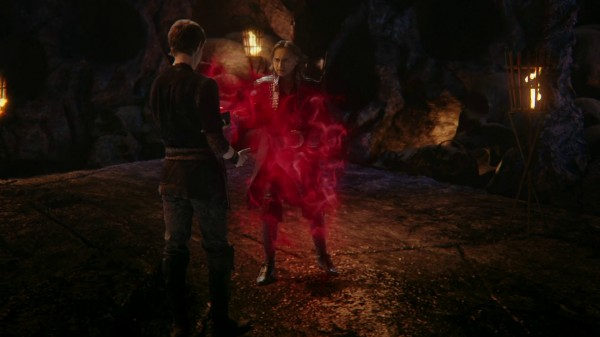 Rumple's dad turns into red smoke (3x08 Think Lovely Thoughts)