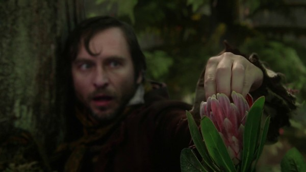 Rumple's father finds pixie dust flower (3x08 Think Lovely Thoughts)