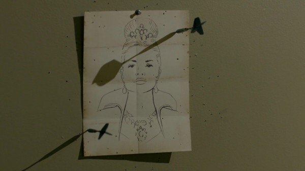 Drawing of Red Queen in Will's Storybrooke Home - Once Upon a Time in Wonderland podcast 1x11 Heart of the Matter