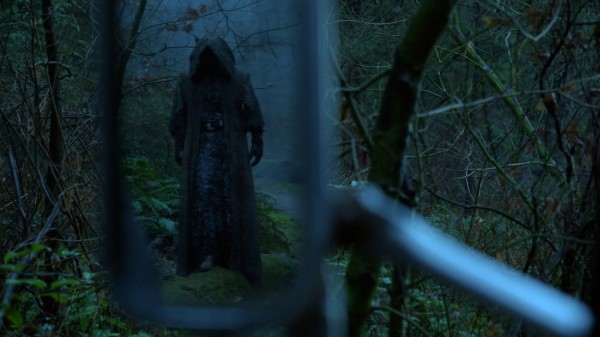 Hooded figure in rearview mirror (3x14 The Tower) Once Upon a Time podcast