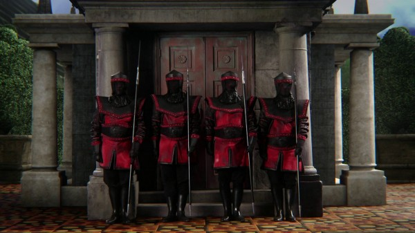 The Knights Guarding Cora's Vault - 1x13 To Catch a Thief