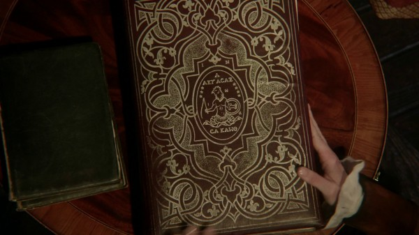 Book that holds the key to the Vault of the Dark One (3x15 Quiet Minds)