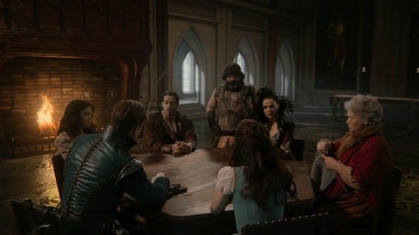 Council Meeting in castle (3x19 A Curious Thing)