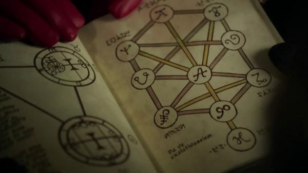 Elvish language in spellbook 2 (3x17 The Jolly Roger)