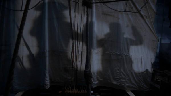 Hook Blackbeard Showdown Shadows - 3x17 The Jolly Roger