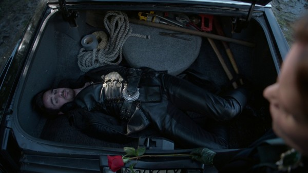 Hook tied up in the trunk (3x19 A Curious Thing)