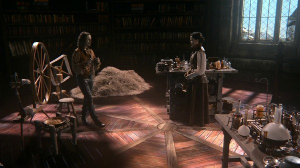 Rumple and Regina in the Library (The Doctor)