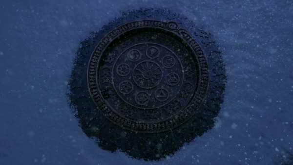 Symbols on the Vault of the Dark One (3x15 Quiet Minds)