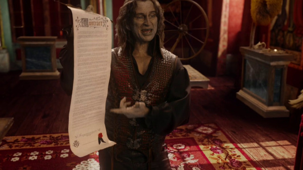 Once Upon a Time 2x04 The Apprentice - Rumple with contract