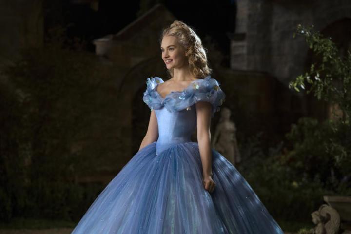Cinderella 2015 movie blue dress