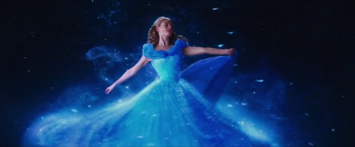 Cinderella's dress magic transformation