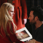 Once Upon a Time podcast 4x17 Best Laid Plans - Emma holding the Author page with August