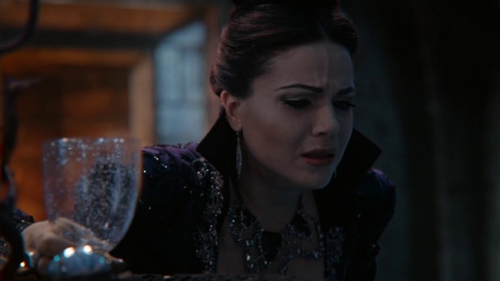 Once Upon a Time 4x21 Mother - Regina Evil Queen takes infertility potion