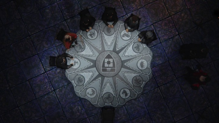 Once Upon a Time 4x22 Operation Mongoose - Evil Queen Snow White roundtable in alternate reality
