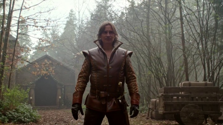 Once Upon a Time 4x22 Operation Mongoose - Rumple standing outside the church in Enchanted Forest alternate reality