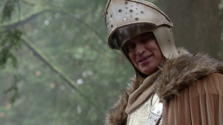 Once Upon a Time 4x22 Operation Mongoose - Rumplestiltskin as a knight in Enchanted Forest alternate reality