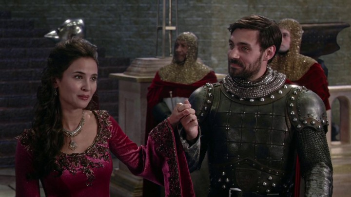 Once Upon a Time 5x02 The Price - King Arthur and Guinevere in Camelot