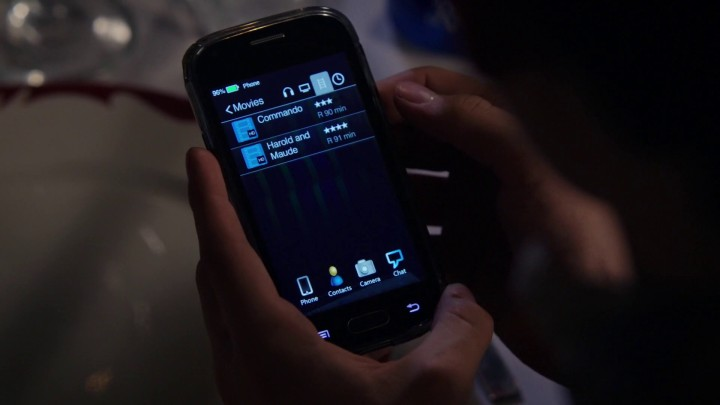 Once Upon a Time 5x05 Dreamcatcher - Commando and Harold and Maude Rated-R movies at Henry's phone