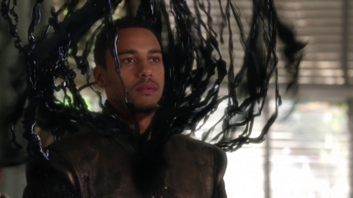 Once Upon a Time 5x08 Birth - Darkness seeping out of Merlin