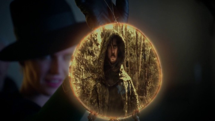 Once Upon a Time 5x08 Birth - Zelena showing Hook what happened in Camelot using dreamcatcher