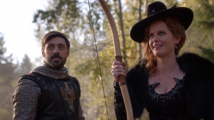 Once Upon a Time 5x09 The Bear King - Arthur with Zelena holding Merida's bow