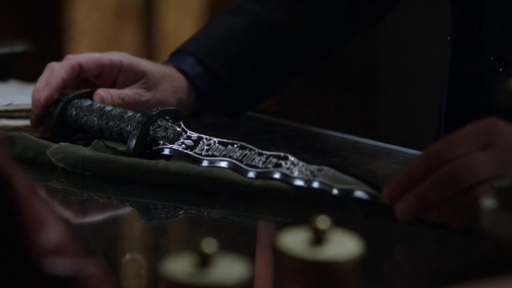 Once Upon a Time 5x11 Swan Song - Rumplestiltskin New Black Dark One Dagger