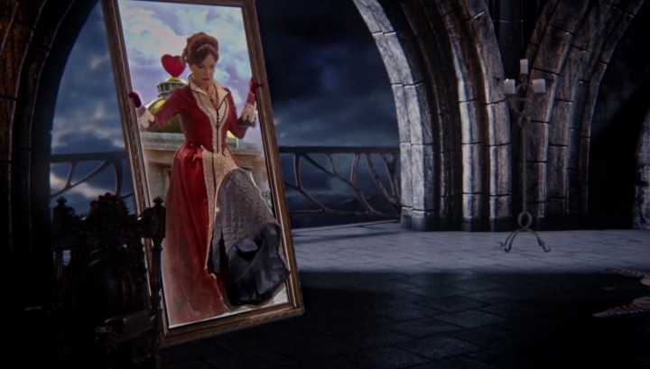 """Cora coming back through the mirror in 5x12 """"Souls of the Departed"""""""