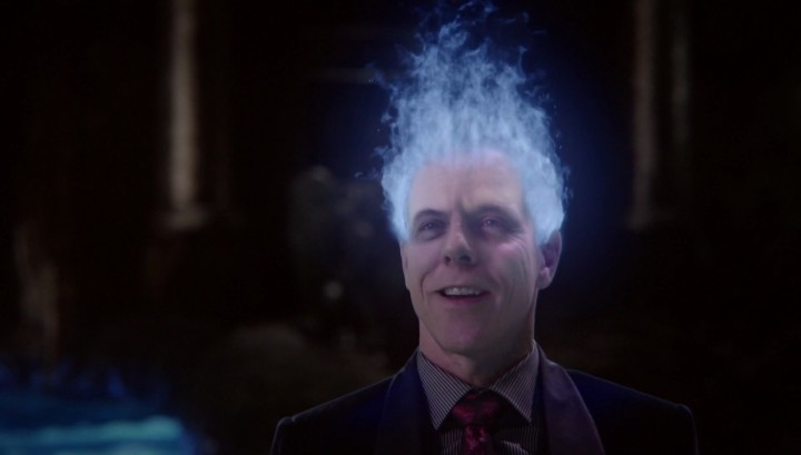 Once Upon a Time 5x12 Souls of the Departed - Hades flaming blue hair