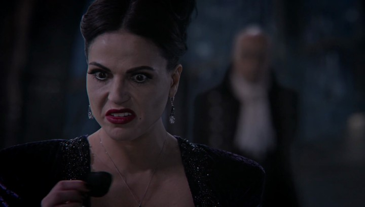 Once Upon a Time 5x12 Souls of the Departed - The Evil Queen Regina plucking the black rose