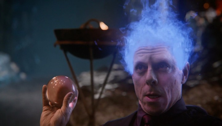 Once Upon a Time 5x14 Devil's Due - Hades holds crystal ball