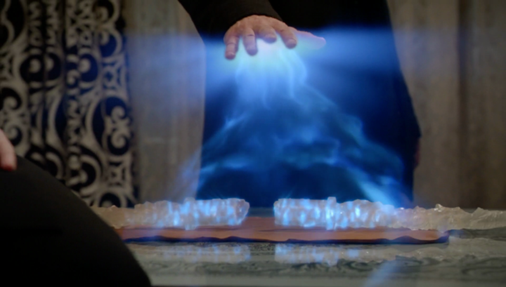 Once Upon a Time 5x21 Last Rites - Hades repairing Olympian Crystal