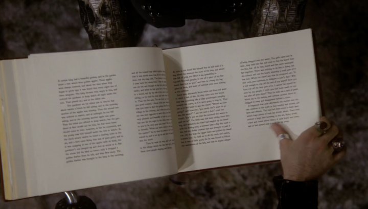 Once Upon a Time 5x21 Last Rites - The Gold Bird and Snow White and Rose Red pages