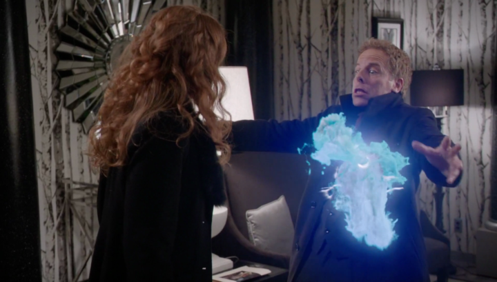 Once Upon a Time 5x21 Last Rites - Zelena killing Hades using Olympian Crystal