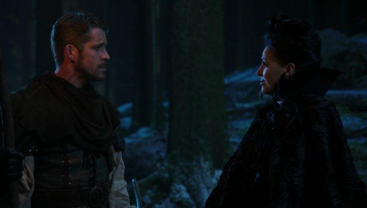 Robin and Regina entering secret passage 3x13 Witch Hunt