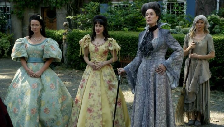 Once Upon a Time 6x03 The Other Shoe - Cinderella with step family Clorinda, Tisbe and Lady Tremaine