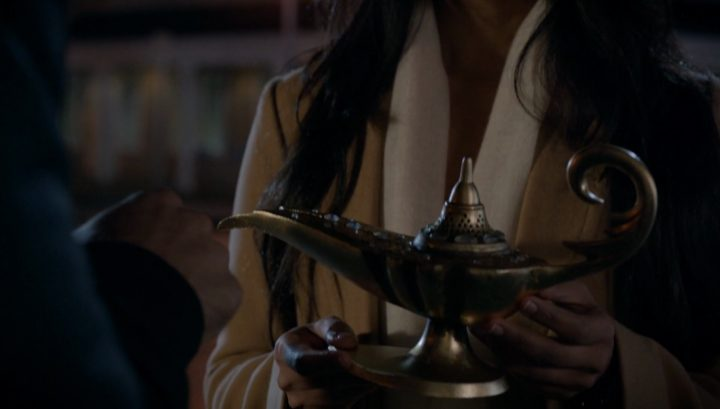Once Upon a Time 6x08 I'll Be Your Mirror - Magic lamp stolen by Aladdin