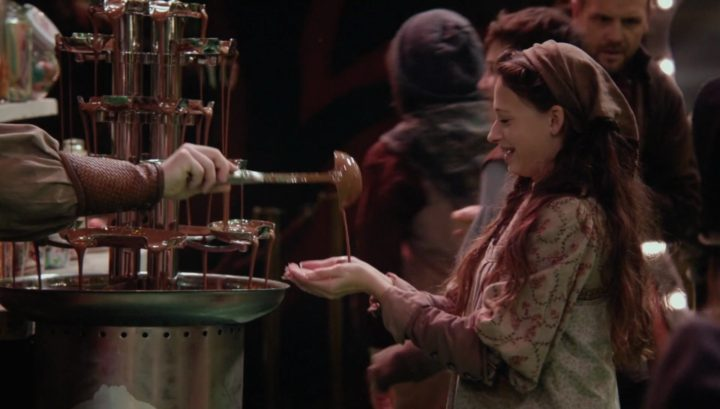 Once Upon a Time 6x12 Murder Most Foul - Girl receiving melted chocolate into her bare hands