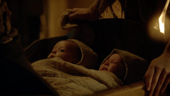 Once Upon a Time podcast 6x12 Murder Most Foul - baby James and David