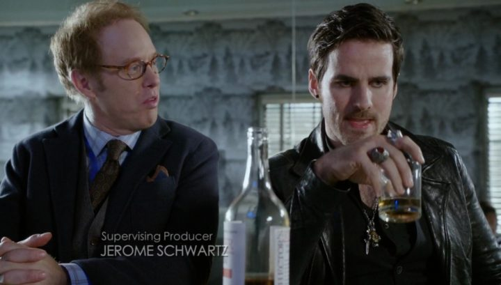Once Upon a Time 6x13 Ill-Boding Patterns - Archie Hopper and Hook at Granny's diner talking