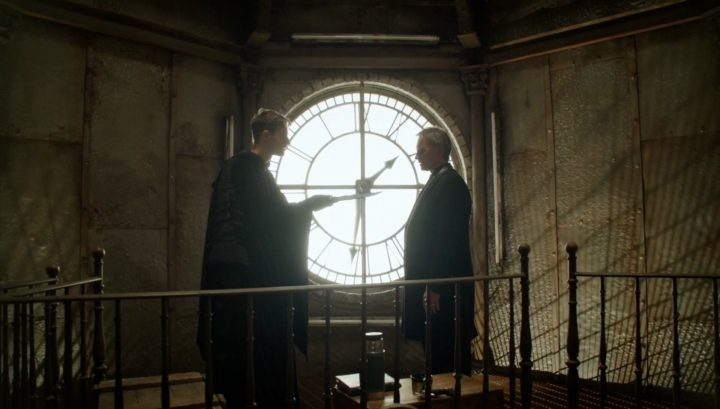 Once Upon a Time 6x13 Ill-Boding Patterns - Gideon and Rumplestiltskin at the clock tower