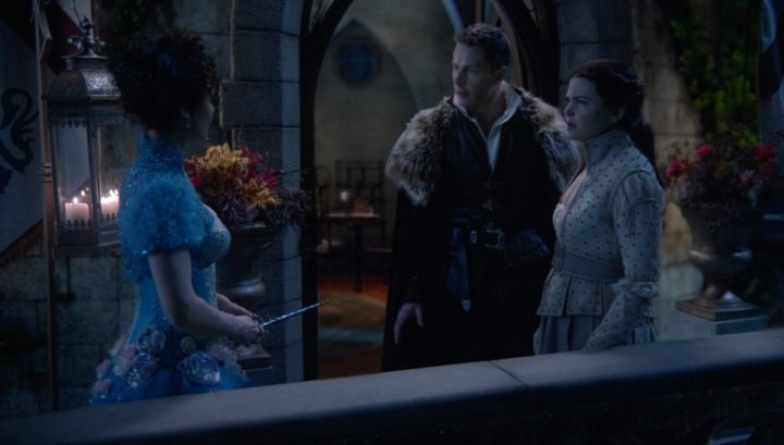 Once Upon a Time 6x20 The Song in Your Heart - Snow White and Charming talks to the Blue Fairy after battling the Evil Queen